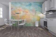 Mélange de pigments broyés et de gomme arabique, la peinture à l'eau s'invite dans la décoration intérieure pour créer un décor diablement chic et artistiqu