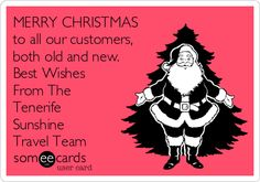 MERRY CHRISTMAS to all our customers, both old and new. Best Wishes From The Tenerife Sunshine Travel Team