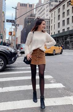 55 Best Ideas Outfits for Short Women - Fashion Mode 2020 Winter Fashion Outfits, Fall Winter Outfits, Look Fashion, Autumn Fashion, Summer Outfits, Ootd Winter, Skirt Outfits For Winter, Autumn Outfits Women, Dress Winter