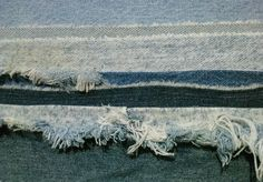 Seascape in recycled denim textile