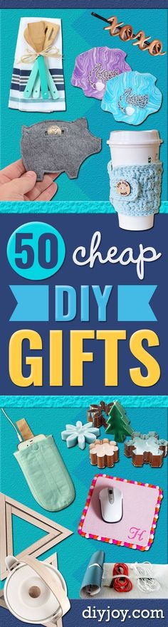 Cheap DIY Gifts and Inexpensive Homemade Christmas Gift Ideas for People on A Budget - To Make These Cool Presents Instead of Buying for the Holidays - Easy and Low Cost Gifts for Mom, Dad, Friends and Family - Quick Dollar Store Crafts and Projects for X Birthday Presents For Dad, Diy Christmas Presents, Birthday Cards For Boyfriend, Diy Holiday Gifts, Christmas Gifts For Friends, Presents For Mom, Homemade Christmas Gifts, Mom Birthday Gift, Homemade Gifts