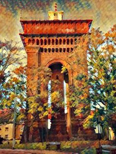 Jumbo, Colchester Town Hall, Daffodils, Countryside, Paths, Artsy, Sunset, Painting, Painting Art, Paintings