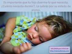 El sueño es necesario para tu hijo