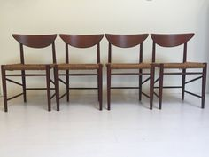 Set Of 4 Teak Dining Chairs Designed By Peter Hvidt By DejaVuLB