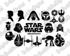 Star Wars SVG Collection - Star Wars DXF - Star Wars Clipart - SVG Files for Silhouette Cameo or Cricut by DrBuddhaDigital on Etsy