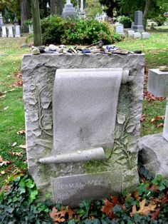 Herman Melville's grave, Woodlawn Cemetery, Bronx, NY