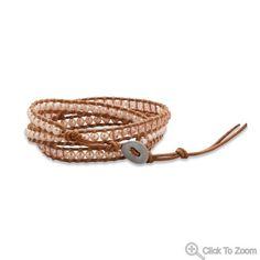 leather pearl wraps bracelet | I Love Bracelets