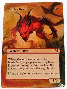 Vexing Devil MTG Magic Altered Art Custom Hand Painted Hot Sexy Pimp OOAK OOP #WizardsoftheCoast