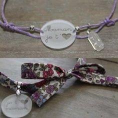 Bracelet en liberty et plastique dingue - Best Ideas Fabric Jewelry, Jewelry Art, Diy Shrink Plastic Jewelry, Shrink Art, Shrinky Dinks, Mother's Day Diy, Mothers Day Crafts, Bijoux Diy, Bracelet Tutorial