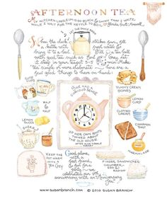 Ideas for afternoon tea by Susan Branch