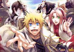 Naruto fan art | Kakashi – Yamato – Sai – Sasuke – Sakura – Naruto | Fan Art