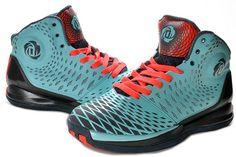 Derrick Rose 2013 AdiZero Rose 3.5 Spider Man Medium Turquoise Red for sale  Adidas Basketball Shoes 3872e52af0