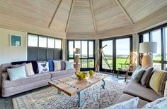 The Roundhouse is a superb gold barn conversion with estuary views, lovely deck and garden, in the rural location of Higher Halwyn near Padstow. Places To Visit Uk, Round House, Deck, Lounge, Cottage, Patio, Outdoor Decor, Home Decor, Airport Lounge
