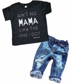 ade83a10 Newborn Baby Boy Clothes T-shirt Top Tee +Denim Pants Outfits Set Years)