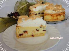 Ala piecze i gotuje: Sernik z żurawiną pod bezową czapą