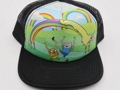 Adventure Time Rainbow Bioworld Officially Licensed Black Snapback Hat  #Bioworld #BaseballCap   #AdventureTime