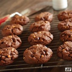 Peanut Butter Cocoa Cookies swap butter for crisco and almond butter for pb