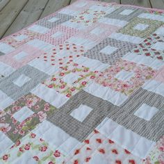 Ambelside Spring Quilt in Pink by ThimbleLamb on Etsy