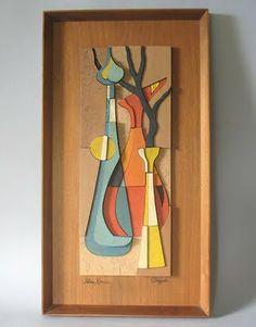 Blenko wood art from 1950 Atomic Ranch House