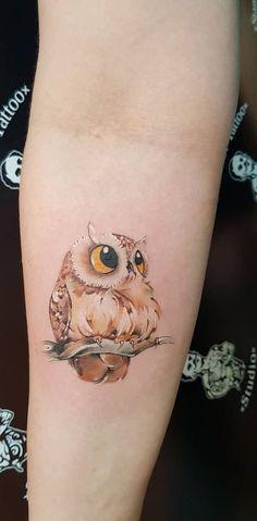 super cute owl tattoo 💖🐥💖🐥💖🐥💖