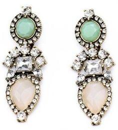 Pastel Perennial Drop Earrings- $26.50