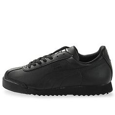 PUMA ROMA BASIC JR GS BIG KIDS 354259-12 Black Athletic Shoes Sneakers Size 5.5