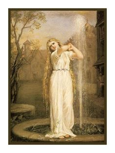 Undine inspired by John William Waterhouse Counted Cross Stitch or Counted Needlepoint Pattern