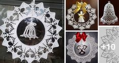 Coronas de Navidad Tejidas a Crochet con Patrones Decorative Plates, Diy, Patterns, Home Decor, Garland, Crochet Snowflakes, Crochet Ornaments, Crochet Flowers, Christmas Ornaments
