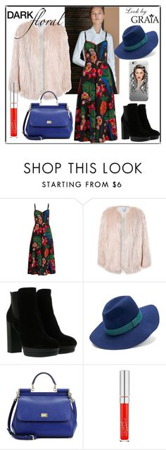 """Dark Floral"" by grahovskaya ❤ liked on Polyvore featuring Valentino, Sans Souci, Hogan, Keds and Dolce&Gabbana"