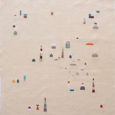 Land of Rivers, embroiderie by At Swim-Two-Birds, via Flickr