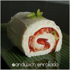 Sandwich enrollado | Recetas Fáciles de Cocina: A mi lo que me gusta es cocinar