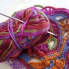 Sara Aires (quartodeideias) - Free form crochet