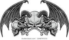 Find Gothic Coat Arms Skull Grunge Vintage stock images in HD and millions of other royalty-free stock photos, illustrations and vectors in the Shutterstock collection. Lace Skull Tattoo, Evil Skull Tattoo, Skull Tattoo Design, Tattoo Design Drawings, Skull Tattoos, Tatoos, Tattoo Designs, Estilo Heavy Metal, Tattoo