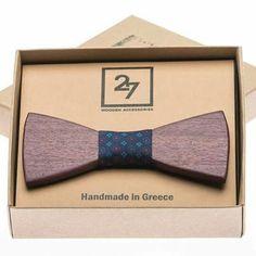 Handmade Purple Heart Wooden Bow Tie
