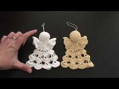 Crochet ideas that you'll love Crochet Angel Pattern, Irish Crochet Patterns, Crochet Angels, Christmas Crochet Patterns, Granny Square Crochet Pattern, Crochet Designs, Crochet Christmas Decorations, Christian Crafts, Baby Hats Knitting