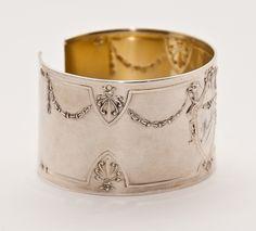 Karen Lindner Antique Sterling Napkin Ring Cuff VI