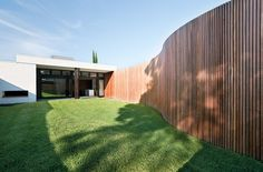 Image result for BOARD AND BATTEN CURVED WALL
