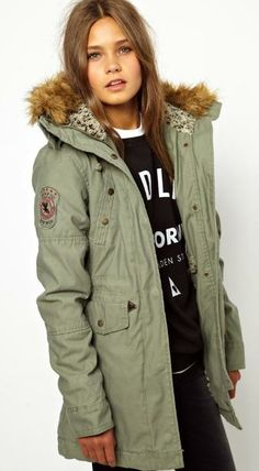 Alpha Industries Fishtail Parka With Faux Fur Lined Hood++ASOS  I love the hood…