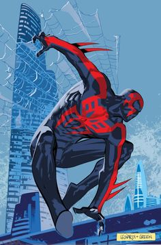 Spider-Man 2099 More @ https://pinterest.com/ingestorm/comic-art-spiderman-friends & http://groups.google.com/group/Comics-Strips & http://groups.google.com/group/ComicsStrips & http://groups.yahoo.com/group/ComicsStrips &  http://www.facebook.com/ComicsFantasy & http://www.facebook.com/groups/ArtandStuff