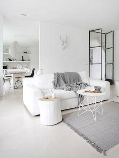 Утонченный белоснежный интерьер | Пуфик - блог о дизайне интерьера