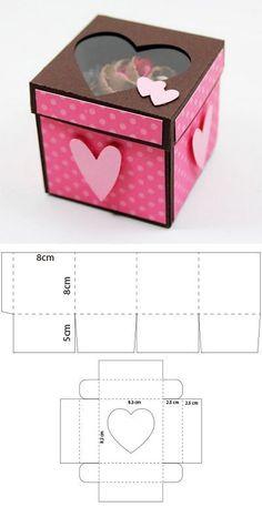 para un cupcake - - Adam . - Origami -Scrapbook para un cupcake - - Adam . Diy Gift Box, Diy Box, Diy Gifts, Gift Boxes, Scrapbook Box, Paper Box Template, Box Templates, Papier Diy, Origami Fashion