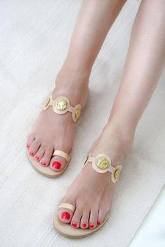 Greek Sandals Leather Sandals Women Sandals Gold Sandals | Etsy Gladiator Sandals Outfit, Boho Sandals, Women Sandals, Flat Sandals, Leather Sandals, Beautiful Sandals, Leather Conditioner, Ancient Greek Sandals, Natural Leather