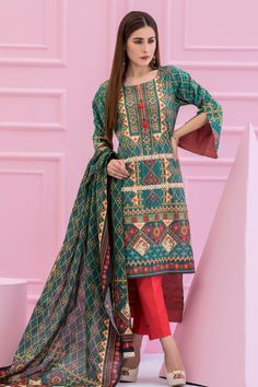 7bb1e8b5e2 Classic Emerald Color 2 Piece Unstitched Pakistani Cambric Pret Wear  Available For Shopping Online On Discount Rate At Sale By Zeen Cambridge  Winter ...