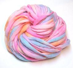48 yards and 4.9 ounces handspun yarn, handpainted in lightly felted merino wool