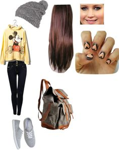 """""""High school outfit"""" by horanlili ❤ liked on Polyvore  but I'd love to call it college outfit."""