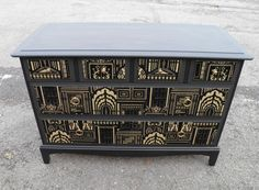 Upcycled Retro Stag Minstrel Range Decoupage Chest Drawers – Ipplepen Interiors