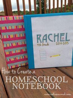 Homeschool notebook. Links to printables for calendars, checklist, etc.