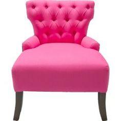 big seat. tufted. pink. love.