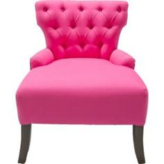 big seat. tufted. pink. love.