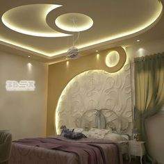 The latest pop design false ceiling for bedroom 2019 and how to choose the best option for your bedroom ceiling with plaster of paris, How to install pop ceiling design and how to finish it. House Ceiling Design, Ceiling Design Living Room, Bedroom False Ceiling Design, Home Ceiling, Bedroom Ceiling, Modern Bedroom Design, House Design, Bedroom Decor, Bedroom Furniture